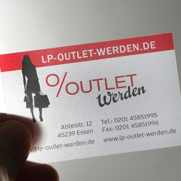 LP Outlet Visitenkarten