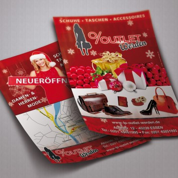 Outlet Flyer Werbung